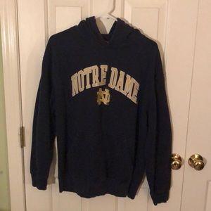 Adult Medium Navy Notre Dame Hoodie